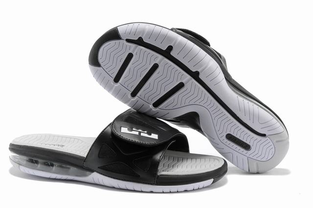 Nike Lebron James 2 Slide Elite Air Cushion Slippers Black Grey White
